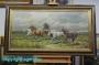 H. Faust * Ölgemälde Leinwand 100 x 50 cm *