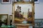 Arnold Graboné / Grabone Ölgemälde auf Leinwand * Prunkrahmen