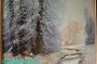 Arnold Graboné / Grabone * Ölgemälde Leinwand * Winterlandschaft