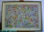 JAMES RIZZI * RIESIGES 3D-BILD * GERAHMT * NP 4.500€