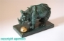 Salvador Dali * Bronzeskulptur * Rhinozeros * Rhinoceros
