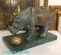 Salvador Dalì * Bronzeskulptur * Rhinozeros * Rhinoceros *